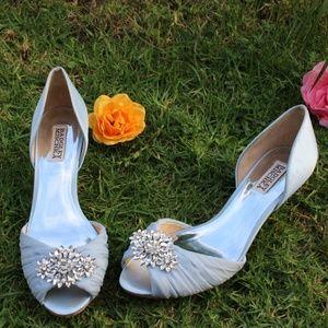 New light blue Badgley Mischka  heels